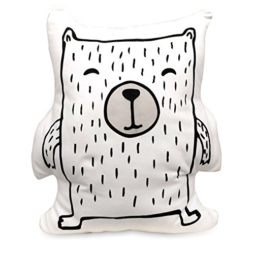 Lolli Living Soft Printed Bear Cushion (Kayden Woodlands Collection). Machine Washable Decorative Bear Pillow. by Lolli Living