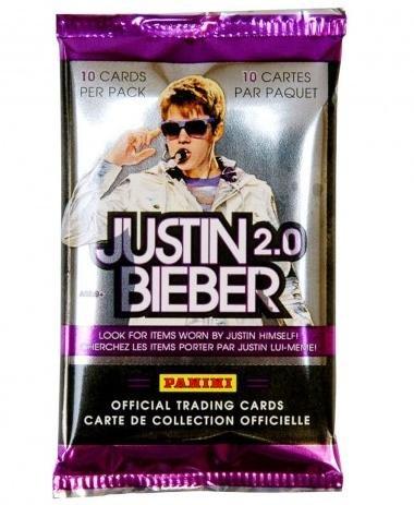 Justin Bieber Trading Cards 2.0 pack