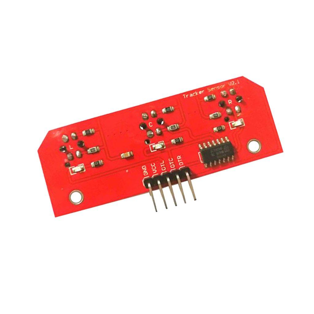 FLAMEER M/ódulo De Seguimiento Del Detector De Rastreo Infrarrojo De 3 Canales Y 5 Pines Para Arduino