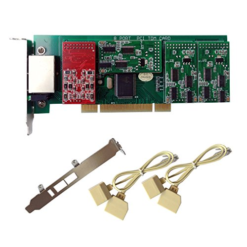 FXO FXS Card X800P with 2 FXO+6 FXS Ports,PCI,with 2U Profile,For (2 Fxo Port Card)