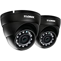 Lorex LNE4322B-2PK 2-Pack 4MP IP HD Dome Camera with Color Night Vision