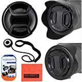 67mm Reversible Lens Hood + 67mm Lens Cap For Nikon DF, D90, D3000, D3100, D3200, D3300, D5000, D5100, D5200, D5300, D5500, D7000, D7100, D300, D300s, D600, D610, D700, D750, D800, D810, D810A Digital SLR Cameras Which Has Any Of These Nikon Lenses 28mm f