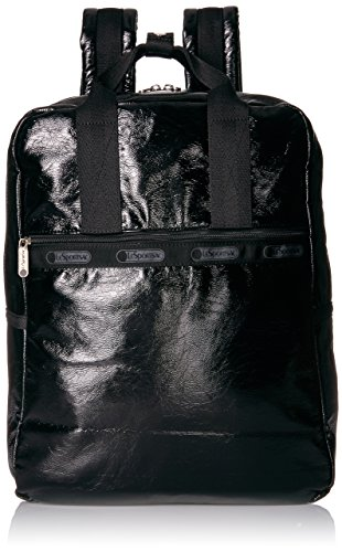 CLASSIC URBAN BACKPACK Backpack, BLACK CRINKLE PATENT, One Size by LeSportsac
