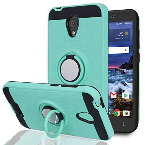 YmhxcY Alcatel 5044R Cell Phone Cases,Alcatel IdealXCITE/Alcatel CameoX/Verso/Ideal Exite Phone Case,360 Degree Rotating Ring & Bracket Dual Layer Resistant Back Cover for 5044R-ZH Mint