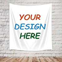 KOTOM Personalized Customize Image Tapestry Wall Hanging for Living Room Bedroom Dorm Decor (80