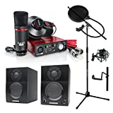Focusrite Scarlett Solo Studio (2nd Gen) USB Audio Interface and Recording Bundle with Pro Tools | First with Samson BT3 Monitor Speakers and More