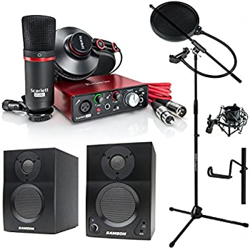 focusrite scarlett solo studio 2nd gen usb audio interface and recording bundle. Black Bedroom Furniture Sets. Home Design Ideas