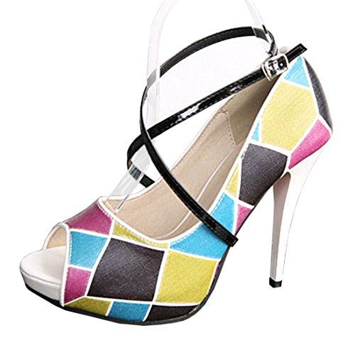 Scarpe per Bianca Antiscivolo scarpe cinghie cunei appartamenti di per Strisce PXD tacco alto Rimovibili balletto scarpa Specchio Anti Adesive 02 nero Andux le sciolti Yqp1Xtxx