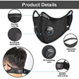 FamBrow Dust Mask with Filters, Washable Sports