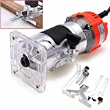 1Set 6.35mm Electric Hand Wood Trimmer Router Woodworking Laminate Palm Router Joiner Tool 800W 220V 50/60HZ