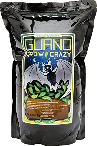 Hydrofarm BGC1002 Vegetative Guano Grow Crazy 5-1-1, 3Lb Bag