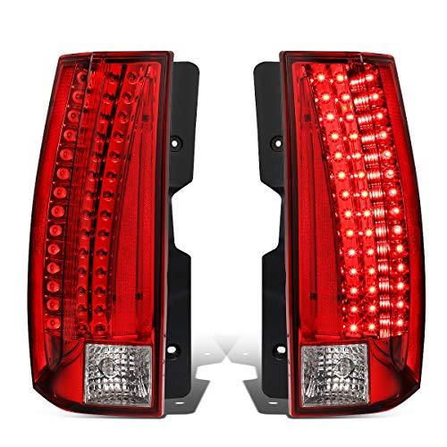 Tail Led Yukon Lamps Lights (DNA Motoring TL-LED-GMCYO07-RDCL Pair Full LED Tail Light/Lamp [For 07-14 Chevy Suburban/GMC Yukon])