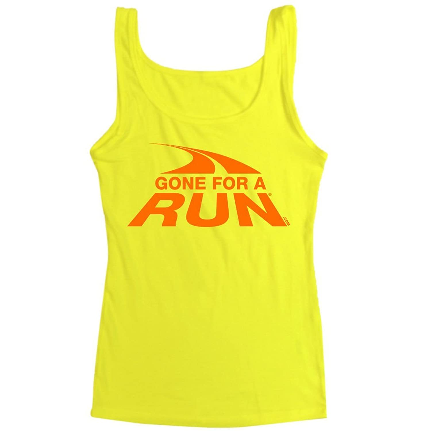 Women's Athletic Tank Top Gone For a Run Logo (Orange)