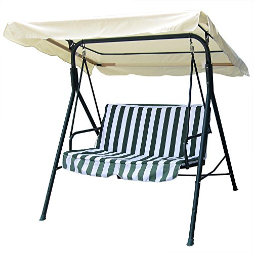 Yescom 76 3/8' x 44 1/8' Outdoor Swing Cover Replacement Canopy UV30+ 180gsm Top for Porch Patio Garden Pool Seat