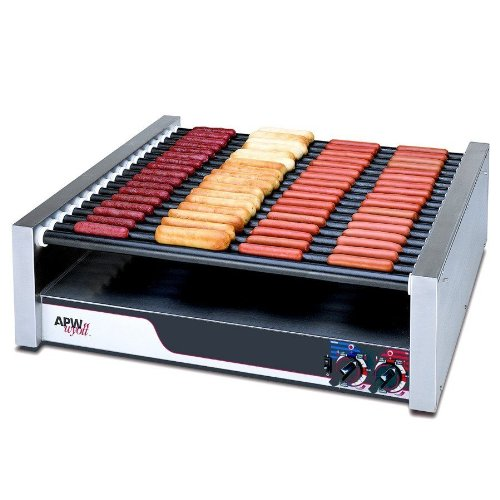 APW Wyott HR-85 X*Pert Flat Top Hot Dog Roller Grill - 208/240V, 2017/2640W