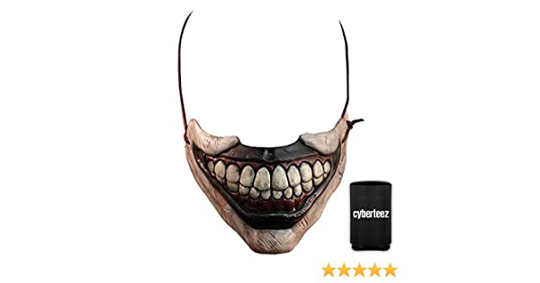 Amazon.com: Twisty The Clown American Horror Story Half Mask Costume Mouth Attachment + Coolie: Clothing