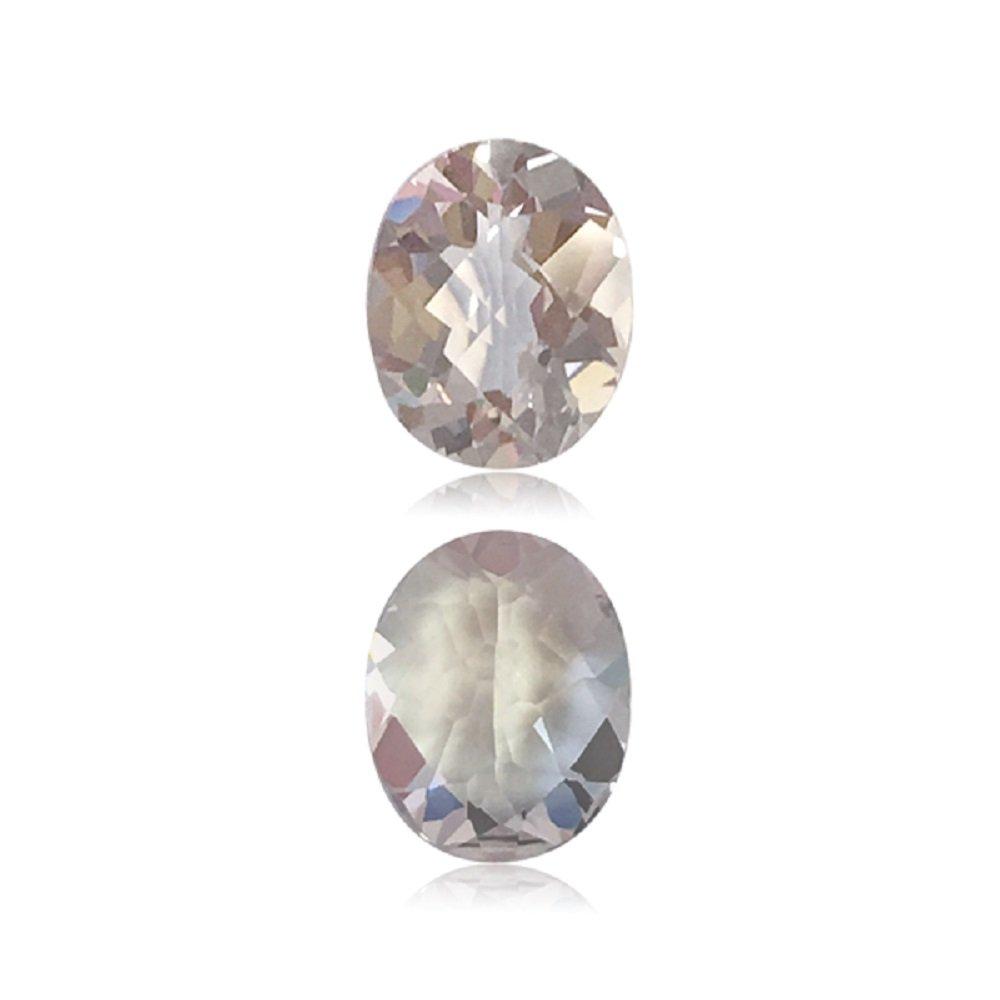 2.43 CTSの10.0 X 8.0 MM A + oval-checkerカットモルガナイト(1 pc) Loose宝石   B077GYP3SS