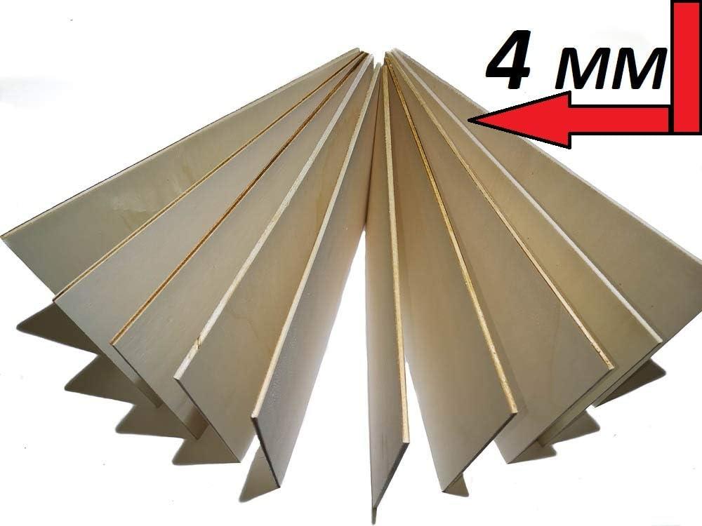 Modellierarbeiten 10 x A4 Sperrholz Panello Holz Grezzo Bl/ätter 210 x 300 x 4 mm Basteln Baltico Baltico S/äge Perfekt f/ür Pirografia Bohren