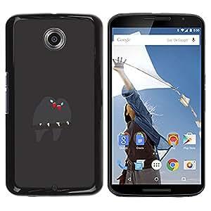 GOODTHINGS Funda Imagen Diseño Carcasa Tapa Trasera Negro Cover Skin Case para Motorola NEXUS 6 / X / Moto X Pro - pájaros lindos ramifican amor pico gris