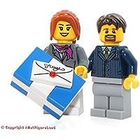 LEGO Holiday MiniFigure - Husband & Wife Couple with Xmas...
