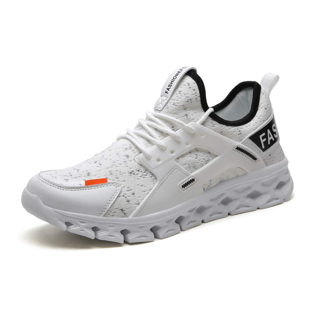 ★QueenBB★ Mens Blade Wave Walking Shoes Mesh Breathable Athletic Running Gym Sneakers Tennis Shoe Gray