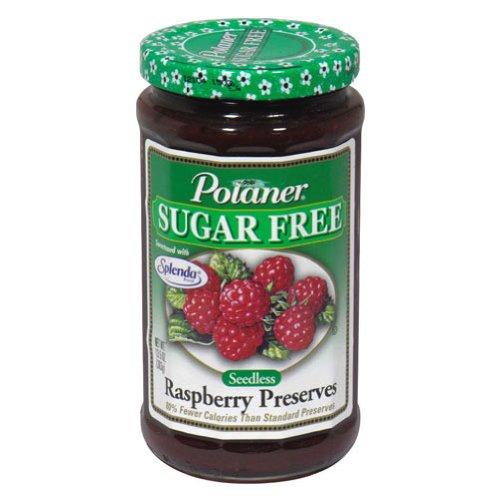 Polaner Sugar Free with Fiber Seedless Raspberry Preserves, 13.5 Ounce -- 12 per ()