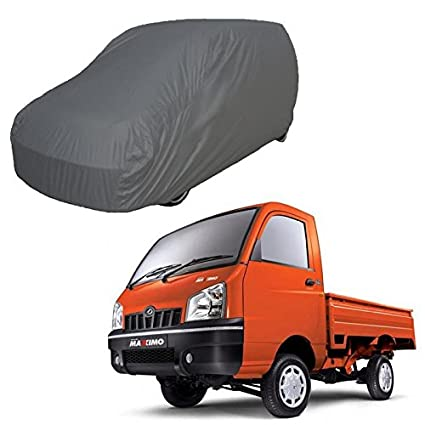 Adroitz Car Cover For Mahindra Maximo Plus Dark Grey Without