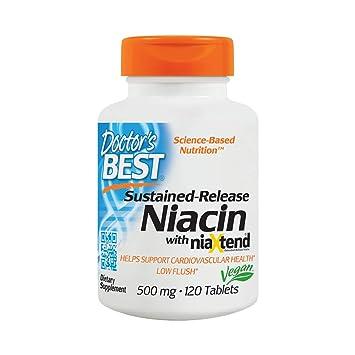 Doctors Best - El Niacin Tiempo-Lanza con el magnesio 500 del niaXtend. -