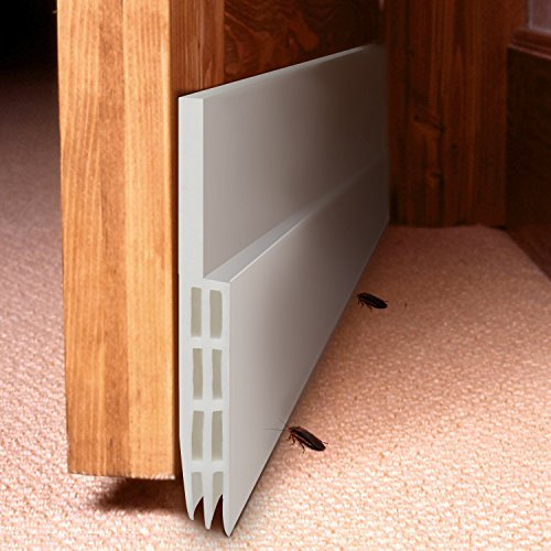 Under Door Sweep Weather Stripping Door Draft Stopper Door Bottom Seal Strip for Noise Insulation,2'' Width x 49'' Length (White) by SAWMLIA (Image #1)