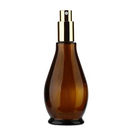 Calabaza en Forma de atomizador de Vidrio ambarino Vacío Botella de Perfume pulverizador cosmético para Maquillaje