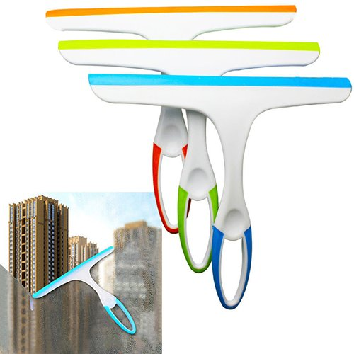 Window Cleaner Glass Wiper Squeegee Shower Bathroom Mirror Car Blade Surface Cleaning Brush