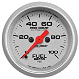 "Auto Meter 4363 Ultra-Lite 2-1/16"" 0-100 PSI Full Sweep Electric Fuel Pressure Gauge"