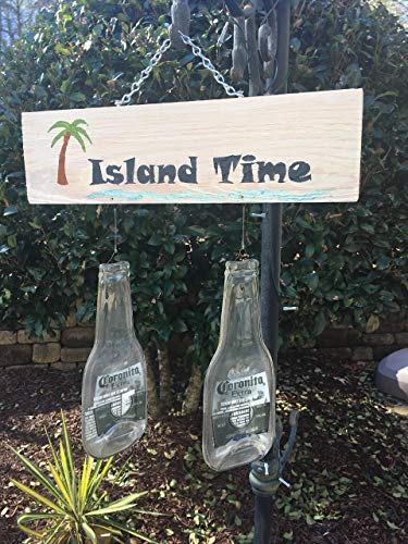 Island Time - Hand painted plaque and beer ()