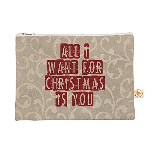 Kess eigene 12,5x 21,6cm Sylvia Cook All I Want For Christmas Alles Tasche–Urlaub