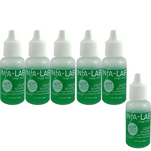 Infalab Magic Touch Liquid Styptic Skin Protector Stop Bleeding Cuts (6 pieces)