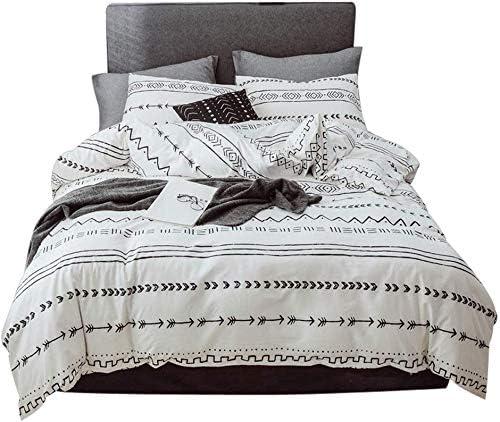 Amazon.com: feelyou Boho Geometric Comforter Cover Set Twin Size