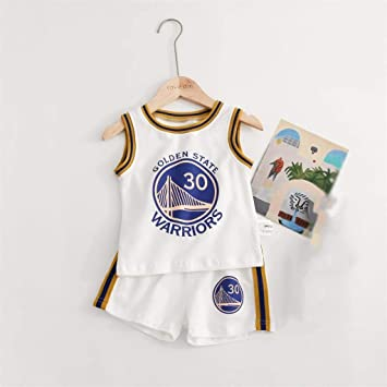 Juego de Jersey Deportivo para niños Baby - Curry # 30-Blanco ...