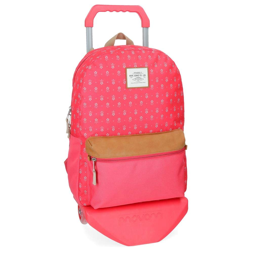 Red (red) Pepe Jeans Carola School Backpack, 44 cm, 21.12 liters, Red (red)