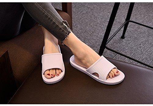 APIKA Pantofole Antiscivolo per Donna E Uomo Uso Interno Uso Esterno Suola in Schiuma Morbida di Sandalo da Bagno Scarpe da Piscina Casa Home Slide