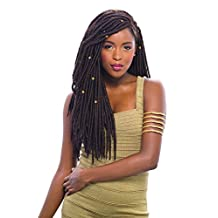 "2X MAMBO FAUX LOCS 18"" (1B Off Black) - Janet Collection Synthetic Crochet Braiding Hair"
