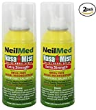 NeilMed Extra Strength NasaMist Saline Nasal Spray Drug Free Nasal Decongestant 4.2 fl oz, (Pack of 2)