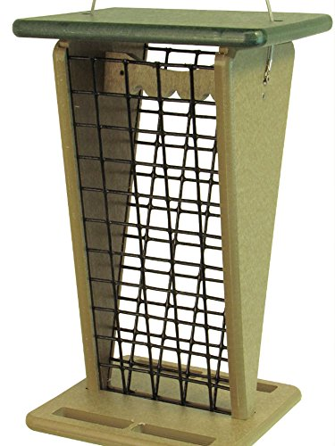 Red Peanut Feeder - JCs Wildlife Poly Lumber Peanut Squirrel Feeder