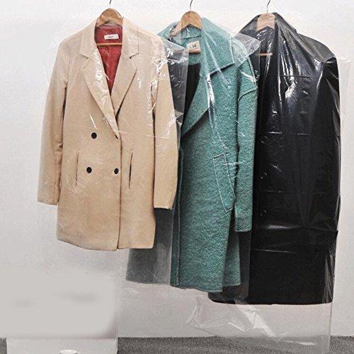 Plastic Garment - 80pcs Dust Cover Garment Storage Organizer Bag Wardrobe Hanging Clothes (80pcs)
