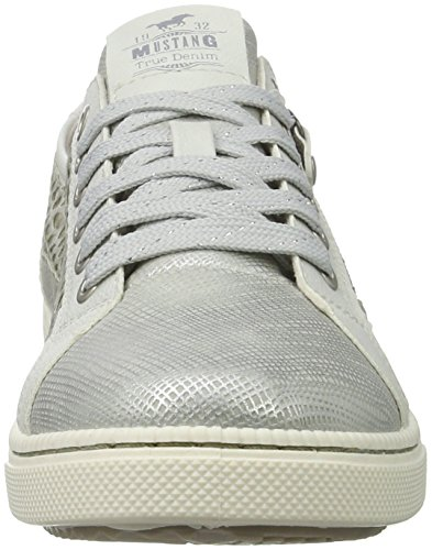 Argent Silber Fille Sneakers 303 Mustang Basses 21 5042 21 FxYSP1Bq