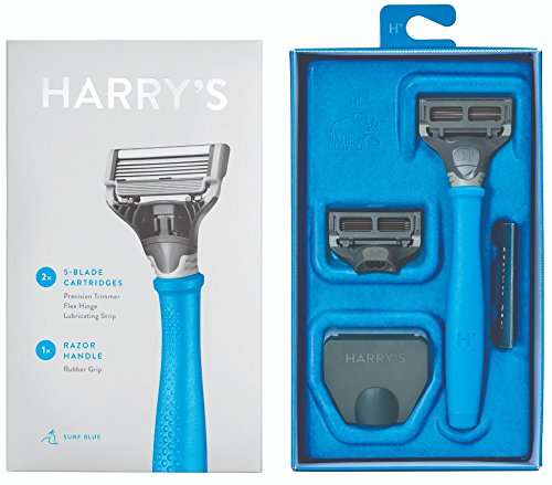 Harry's Razor With 2 Blade Cartridges Surf Blue