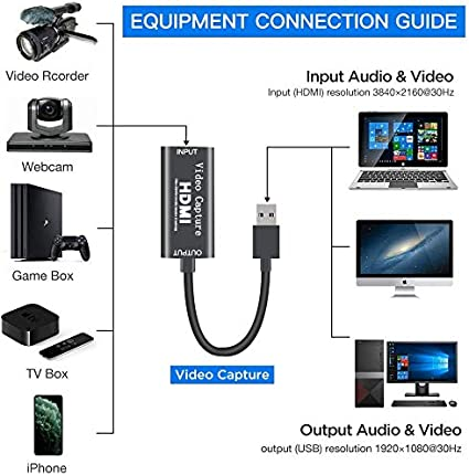 Stream and Record in 1080p30 GuangDa USB Video Capture Card ...