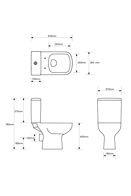Aquariss Designer Bathroom Suite With Single Ended 1700 Bath WC Toilet Basin Sink