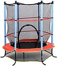 Qaba 55Inch Children's Trampoline with Safety Enclosure Net All in 1 Set