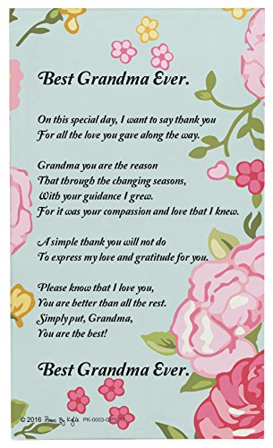 Grandma Gifts for Christmas Best Grandma Ever Grandma Poem Decorative Poetry Award Gift Plaque Glass - Plaque Personalized Decorative
