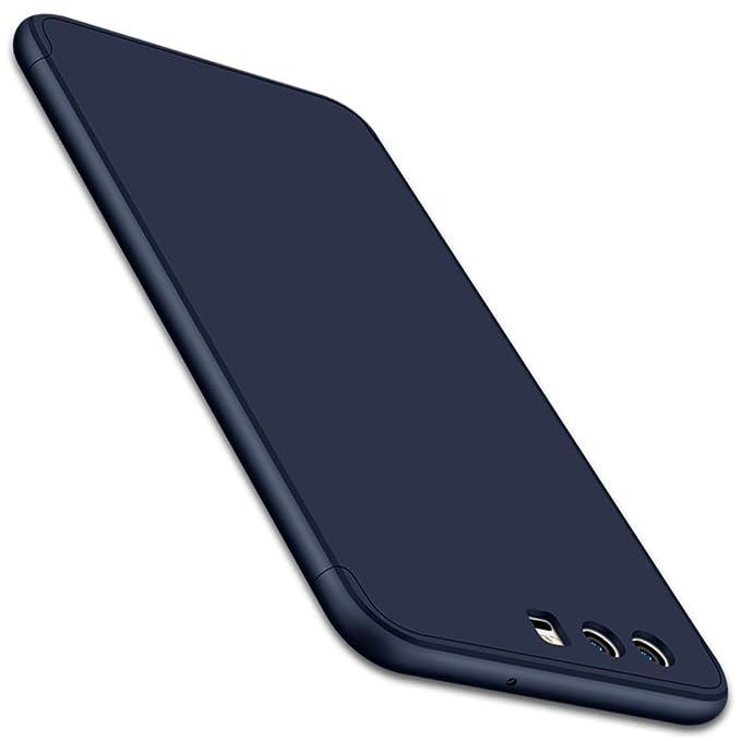 Qissy Carcasa Huawei P10, 3 in1 Todo Incluido Anti-Scratch Anti-Huella Dactilar a Prueba de Choque 360 PC Protective Case Cover Skin para Huawei P10